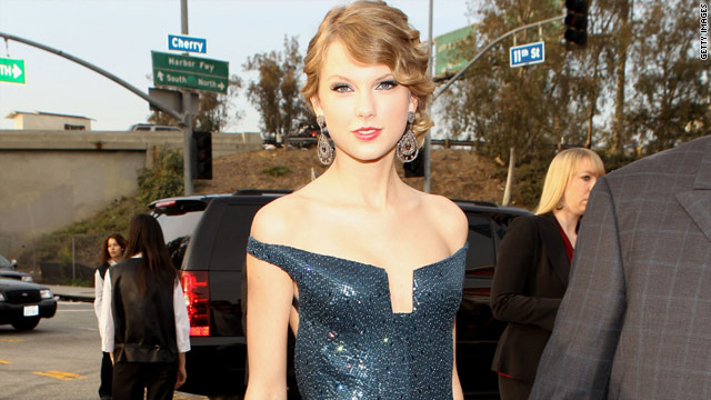 "Taylor Swift won the biggest Grammy of the night, album of the year for her CD ""Fearless."""