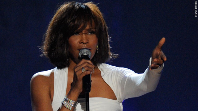 Whitney Houston performs at the 2009 American Music Awards in November.