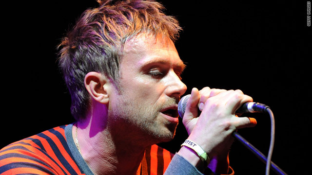 Gorillaz star Damon Albarn sings at the Coachella Festival 2010 in Indio, California on April 18.