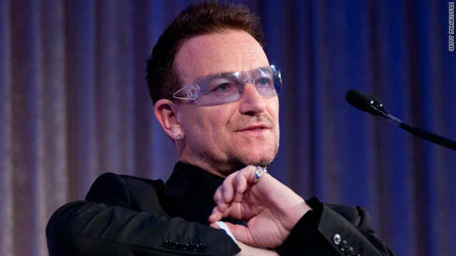 Singer Bono suffered a serious back injury while preparing for for his band's U.S. tour.