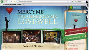 The band created a website for Mr. Lovewell where fans can share their stories of acts of kindness.