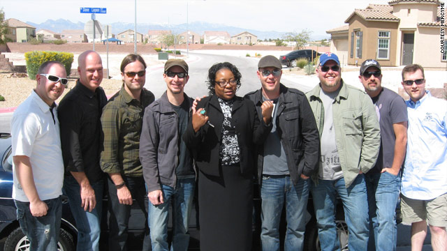 While the band was in Las Vegas, Nevada, MercyMe helped Glenda James get her 13-year-old beat-down car repaired.
