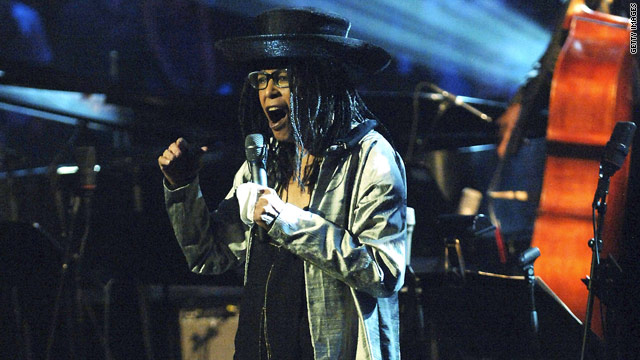 Abbey Lincoln, shown performing at a hurricane relief benefit in New York in 2005, died of natural causes Saturday morning.