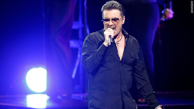 George Michael performs at a concert in Australia earlier this year.