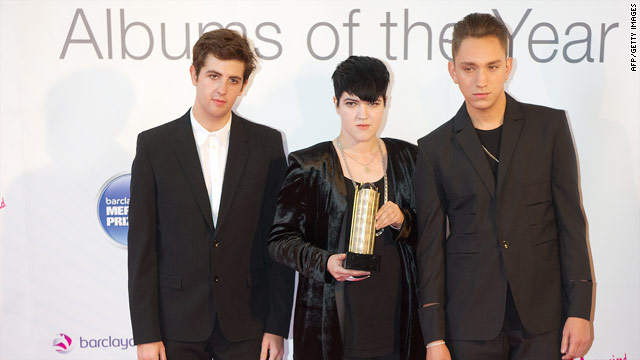 The xx, from left to right Oliver Sim, Romy Madley Croft and Jamie Smith.