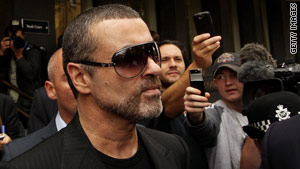 Singer George Michael was released from Highpoint Prison in England on Monday.