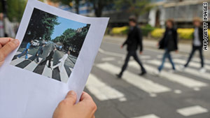 "The Beatles made it famous by walking across it on the cover of their ""Abbey Road"" album."