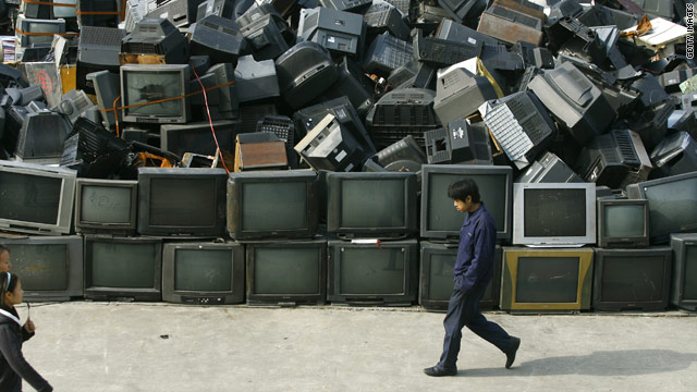 The dumpster may be the next place for your TV as viewers make the move to the internet.