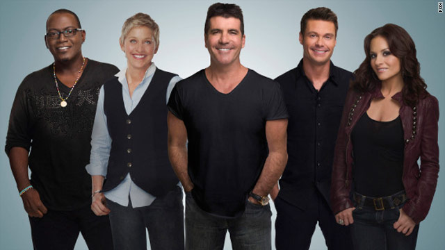 """American Idol"" executives are banking on the addition of Ellen DeGeneres, second from left, to keep the show's ratings high."