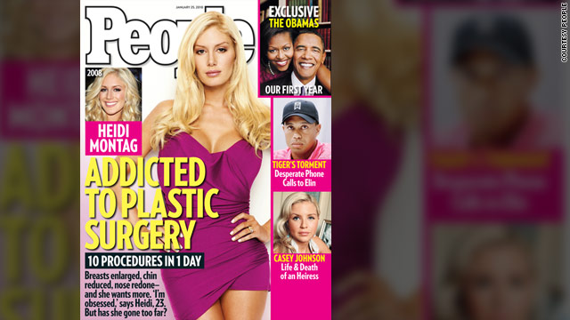 Heidi Montag sports a new look on the cover of People magazine after undergoing 10 hours of cosmetic surgery.