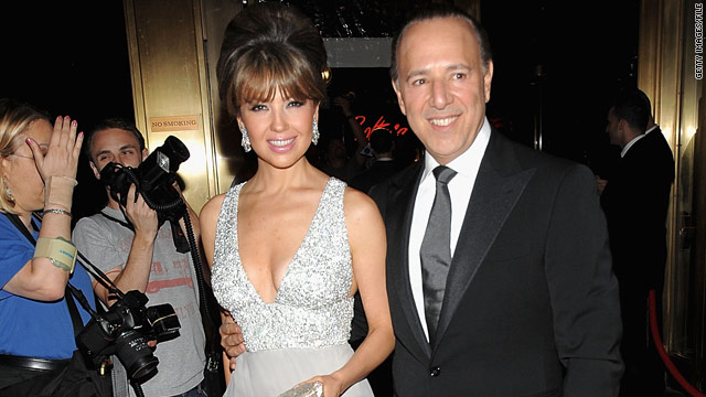 Tommy Mottola, with wife Thalia, is a longtime music industry insider.