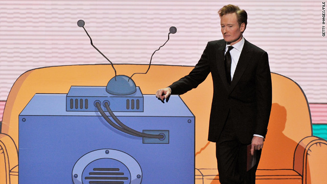 Conan O'Brien, seen here at the 60th annual Emmy Awards in 2008, gave parting words that are still resonating with viewers.