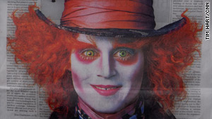 Johnny Depp's face greeted Los Angeles Times readers on Friday.
