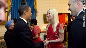 Michaele and Tareq Salahi met President Obama, although the White House says they were not invited.