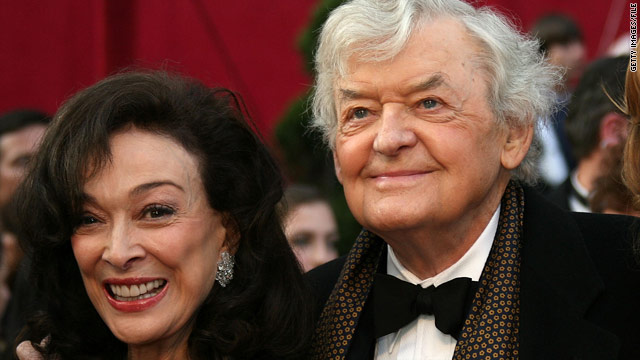Dixie Carter at the 2008 Academy Awards with her husband, actor Hal Holbrook.