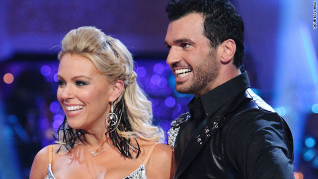 "Kate Gosselin, shown here with partner Tony Dovolani on ""Dancing with the Stars,"" has been taking heat from fans."