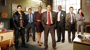 "Michael Imperioli, center, heads the cast of ""Detroit 1-8-7."""