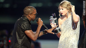 Kanye West interrupted Taylor Swift's acceptance speech at last year's MTV Video Music Awards.