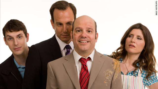 """David Cross, center, stars in the new IFC series """"The Increasingly Poor Decisions of Todd Margaret."""""""