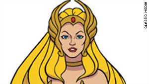 She-Ra was the alter ego of Princess Adora in an animated series that began airing in 1985.