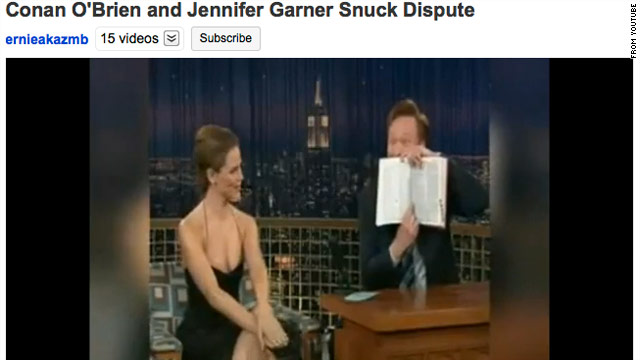 "Conan pulled out a dictionary during an interview with Jennifer Garner after she scolded him, saying that ""snuck"" isn't a word."