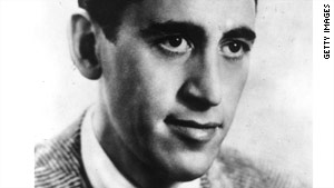 "Reclusive author J.D. Salinger, pictured in 1951, was best known for the novel ""The Catcher in the Rye."""