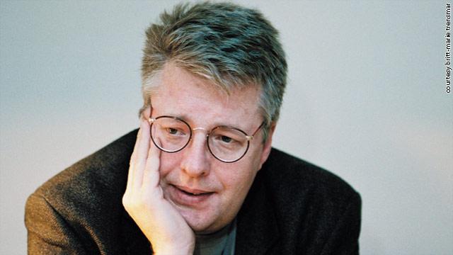 Stieg Larsson, pictured here during the year he died, worked on his dark trilogy during late-night writing binges.
