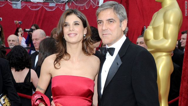 Paparazzi thought they saw Canalis sporting an engagement ring, but Clooney's rep says it was just a napkin ring.