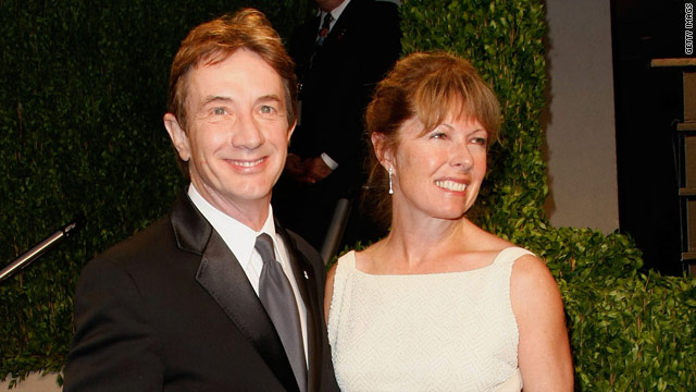 Martin Short and Nancy Dolman arrive at the Vanity Fair Oscar Party on February 22, 2009, in West Hollywood, California.