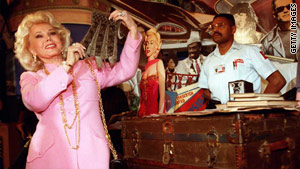 Actress Zsa Zsa Gabor, shown in a 1996 photo, was rushed to the hospital Tuesday morning.
