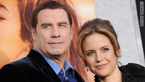 John Travolta, left, and wife Kelly Preston lost their son Jett after he suffered a seizure in January 2009.
