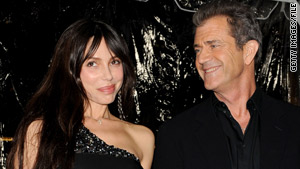 Mel Gibson, right, and Oksana Grigorieva split earlier this year, several months after the birth of their daughter, Lucia.