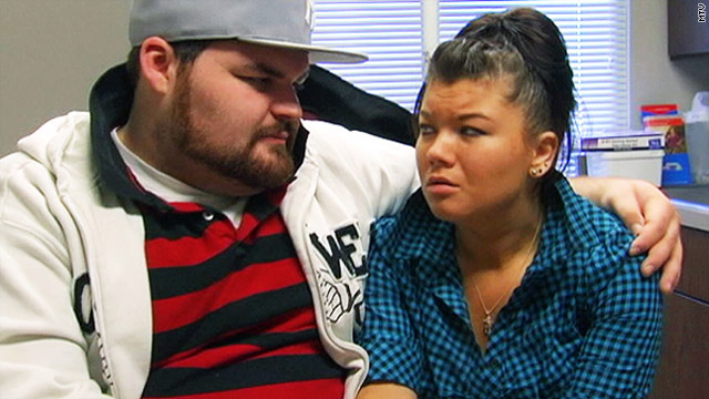 MTV's &quot;Teen Mom&quot; Amber Portwood was filmed on the show slapping boyfriend Gary Shirley in the face.