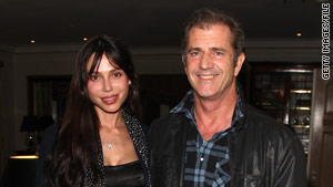 Mel Gibson and Oksana Grigorieva, seen in March before their breakup, are due in court on Monday.