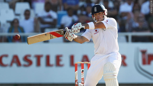 Matt Prior battled well to score an unbeaten half-century as England hung on in the second Test against South Africa.