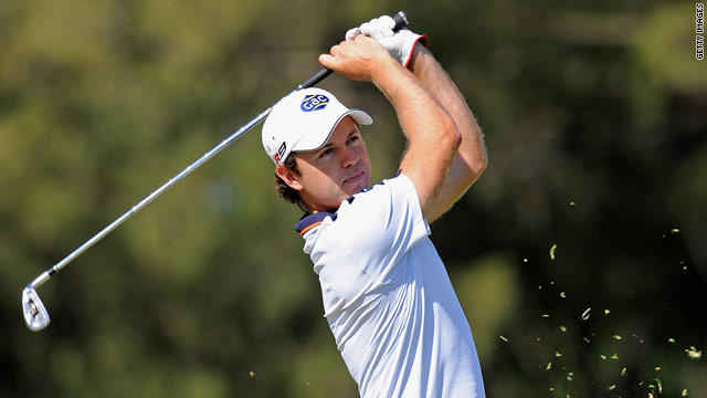 South African Richard Sterne is one of five players to share the lead after the opening of the Africa Open.