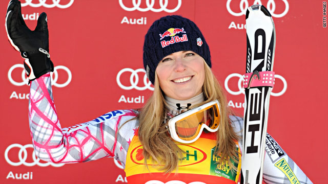Lindsey Vonn has won all three World Cup downhills this year after securing another victory in Austria on Friday.