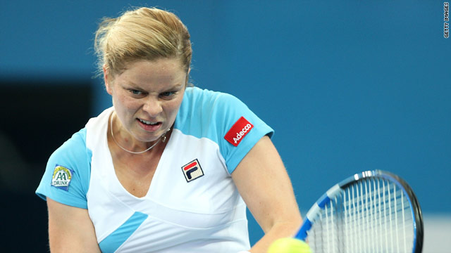 Top seed Kim Clijsters will play her fellow-Belgian Henin in the final of the Brisbane International event.