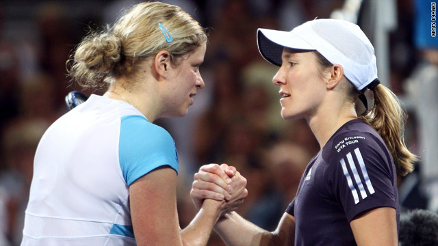 Kim Clijsters, left, has now beaten her Belgian rival Justine Henin 11 times in 23 encounters.