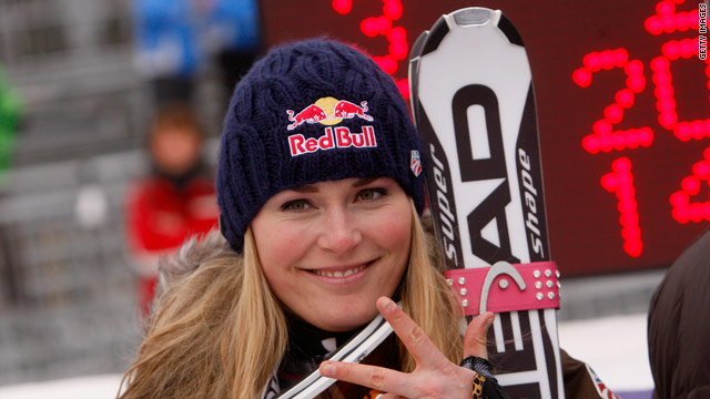 Lindsey Vonn extended her dominance of the World Cup season by completing a hat-trick of victories.