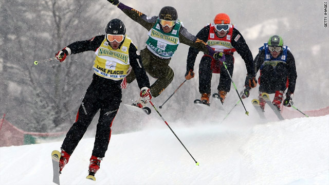 U.S. Olympic hopeful Daron Rahlves, right, tries to rally in a January 2009 race.
