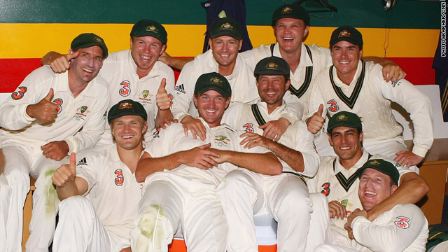 Thumbs up from the Australian side as they completed their fourth successive 3-0 Test whitewash over Pakistan.