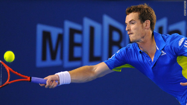 Andy Murray was in dominant form as he cruised into the second round of the Australian Open in Melbourne.
