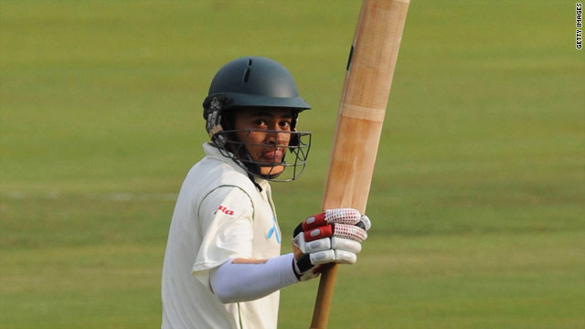 Mushfiqur Rahim scored Bangladesh's fastest-ever Test century, but it was not enough to prevent India claiming a first Test victory.