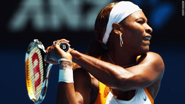 Serena Williams is looking to defend her title at the Australian Open after an emphatic win on Saturday.