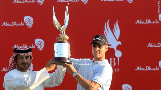 Abu Dhabi specialist Kaymer triumphed for the second time in three years after a final round 66.