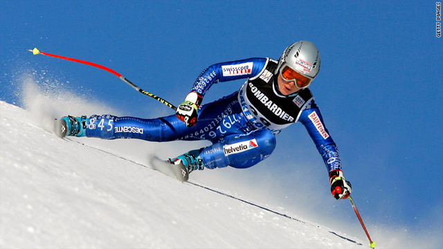Schild suffered a serious knee injury during downhill training at St Moritz on Wednesday.