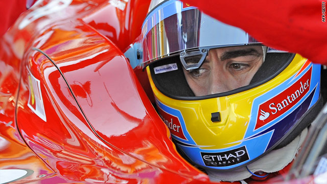 Alonso impressed in his first official outing in the famous red of Ferrari.