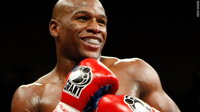American boxer Floyd Mayweather has won six world titles at five different weight categories.