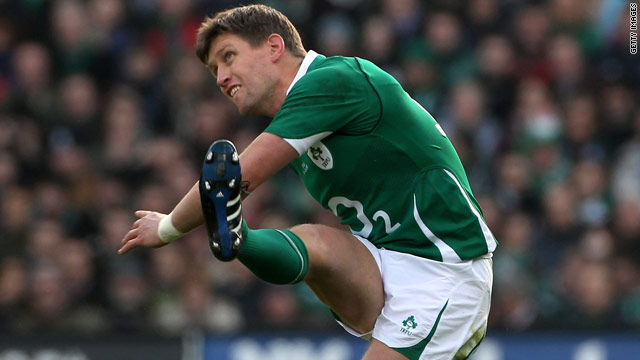 Ireland's Ronan O'Gara became the first player to score 500 points in the Six Nations championship.